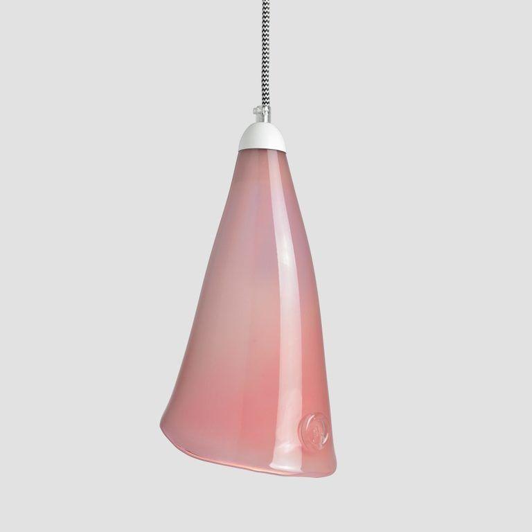 Lampa wisząca szklana HORN różowa LGH0262 - Gie El