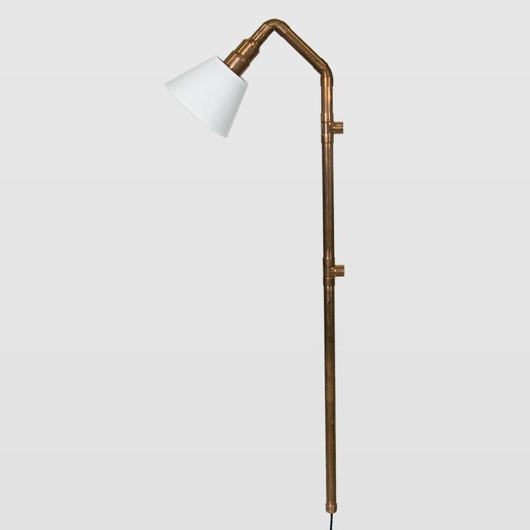 Lampa ścienna miedziana z rurek WAND z abażurem LGH0273 - Gie El