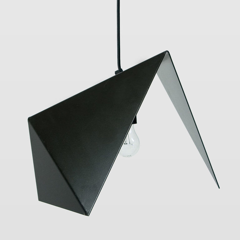 Lampa wisząca stalowa BIRD II czarna LGH0310 - Gie El