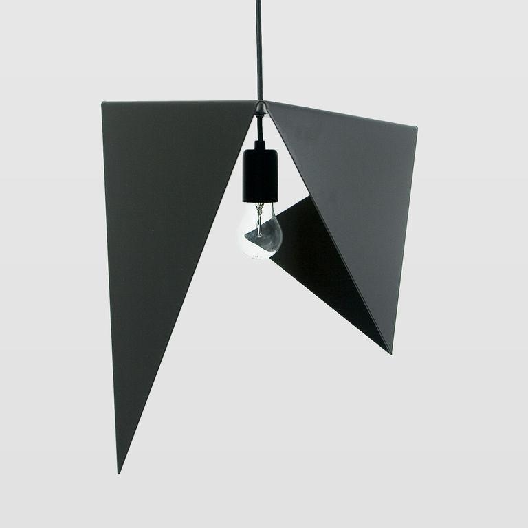 Lampa wisząca stalowa BIRD I czarna LGH0320 - Gie El