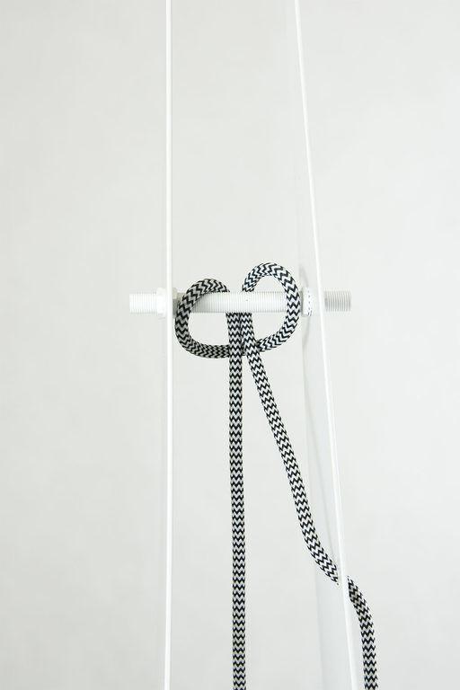 Lampa podłogowa stalowa ARROW BIG biała LGH0351 - Gie El