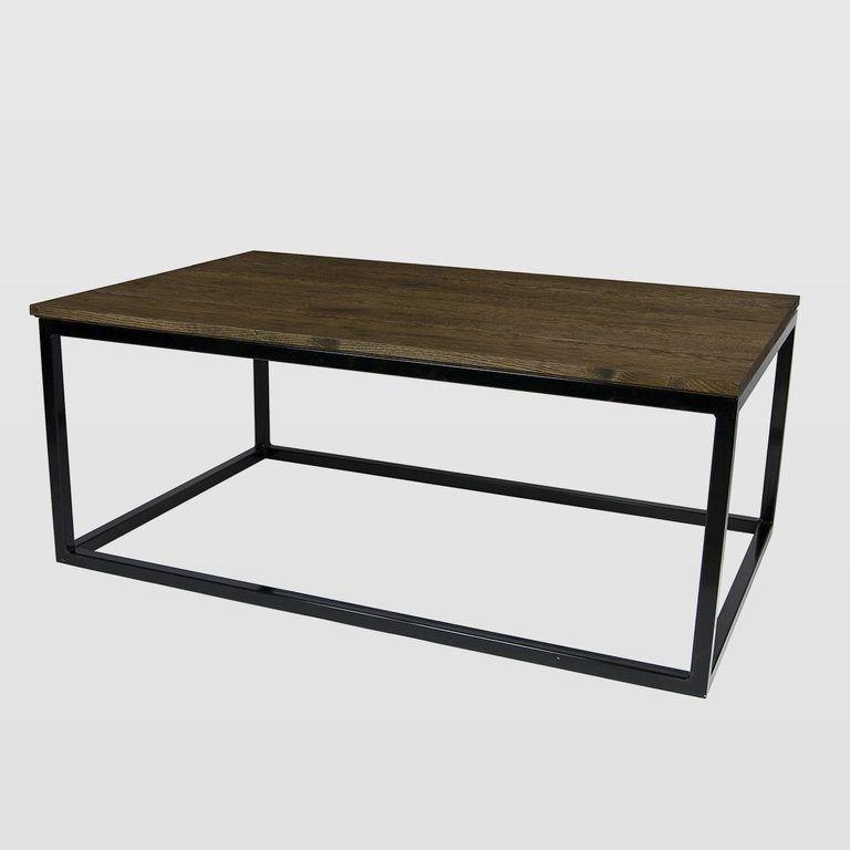 Drewniany Stolik Kawowy Fct0055 Na Czarnej Ramie