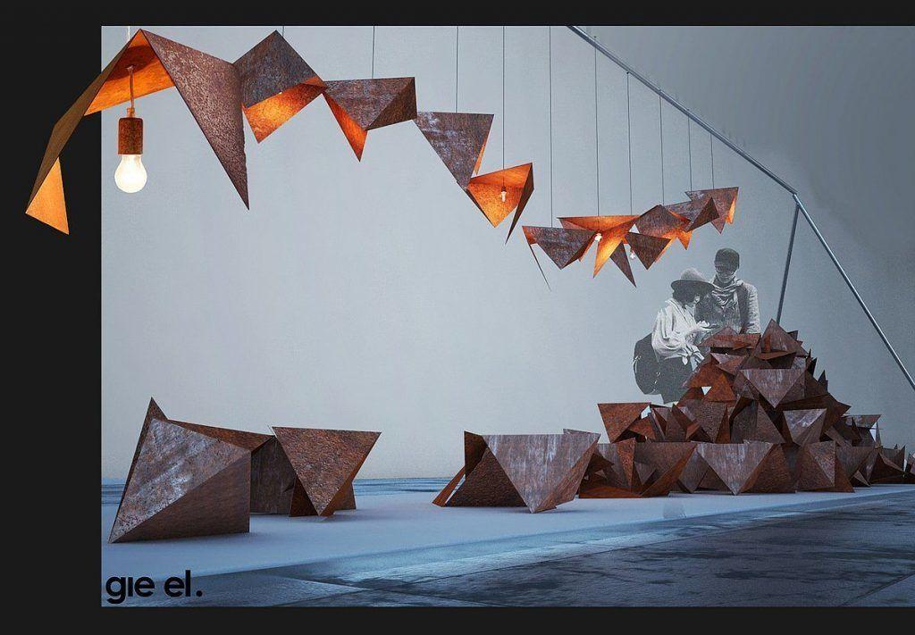 Gie El - Light the Rust lampa wisząca BIRD nowowczesne oświetlenie