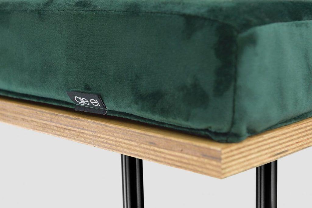 Ławka CORGI I zielono czarna FST0253 - Gie El