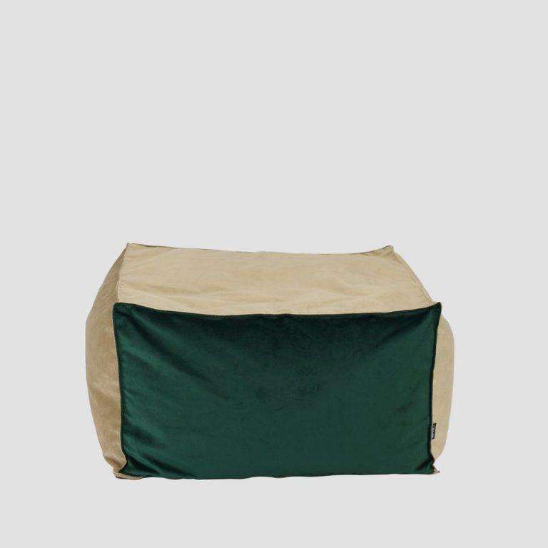 Pufa SQUARE złoto zielona FST0172 - Gie El