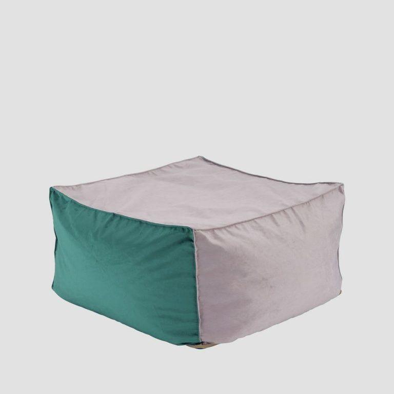 Pufa SQUARE różowo turkusowa FST0173 - Gie El