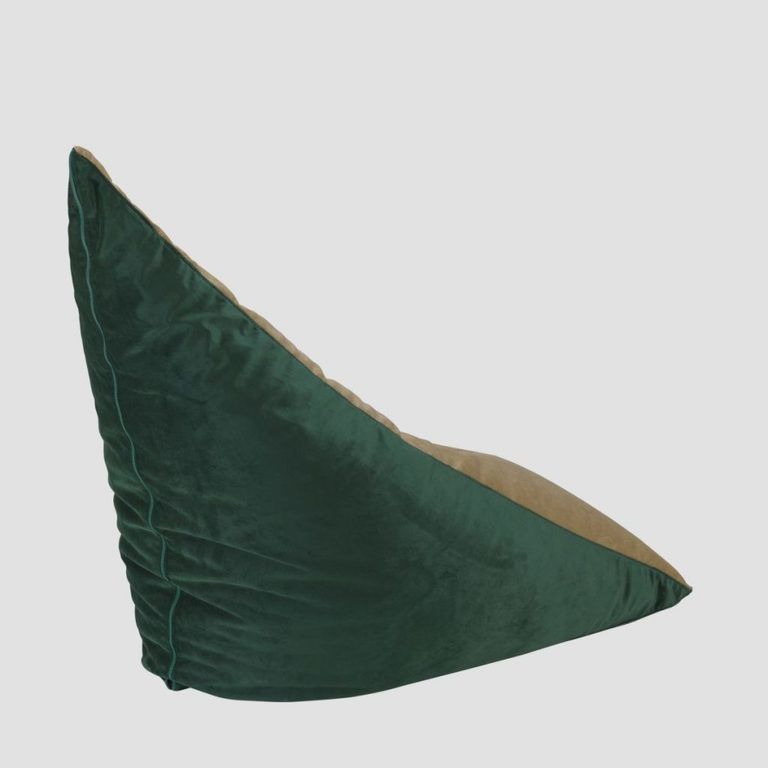 Pufa TRIANGLE złoto zielona FST0182 - Gie El