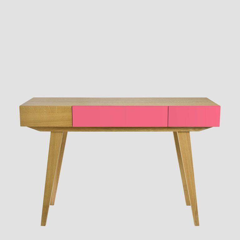 Konsola PRL różowa brązowa FUR0173 - Gie El