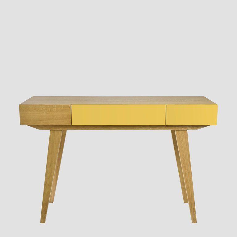 Konsola PRL żółta brązowa FUR0174 - Gie El