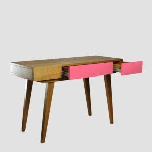 Konsola PRL różowa ciemnobrązowa FUR0183 - Gie El