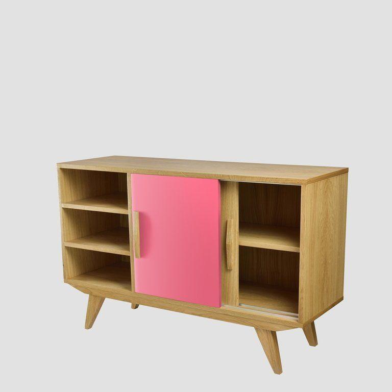 Szafka PRL BIG różowa brązowa FUR0193 - Gie El