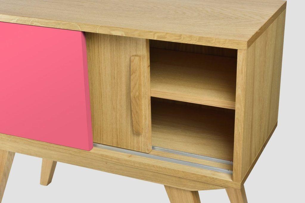 Szafka PRL różowa brązowa FUR0213 - Gie El