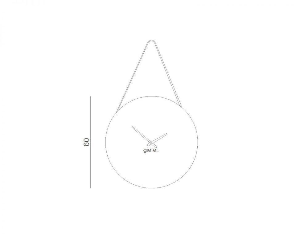 Zegar ścienny ROUND II rdzawy ACL0032 - Gie El