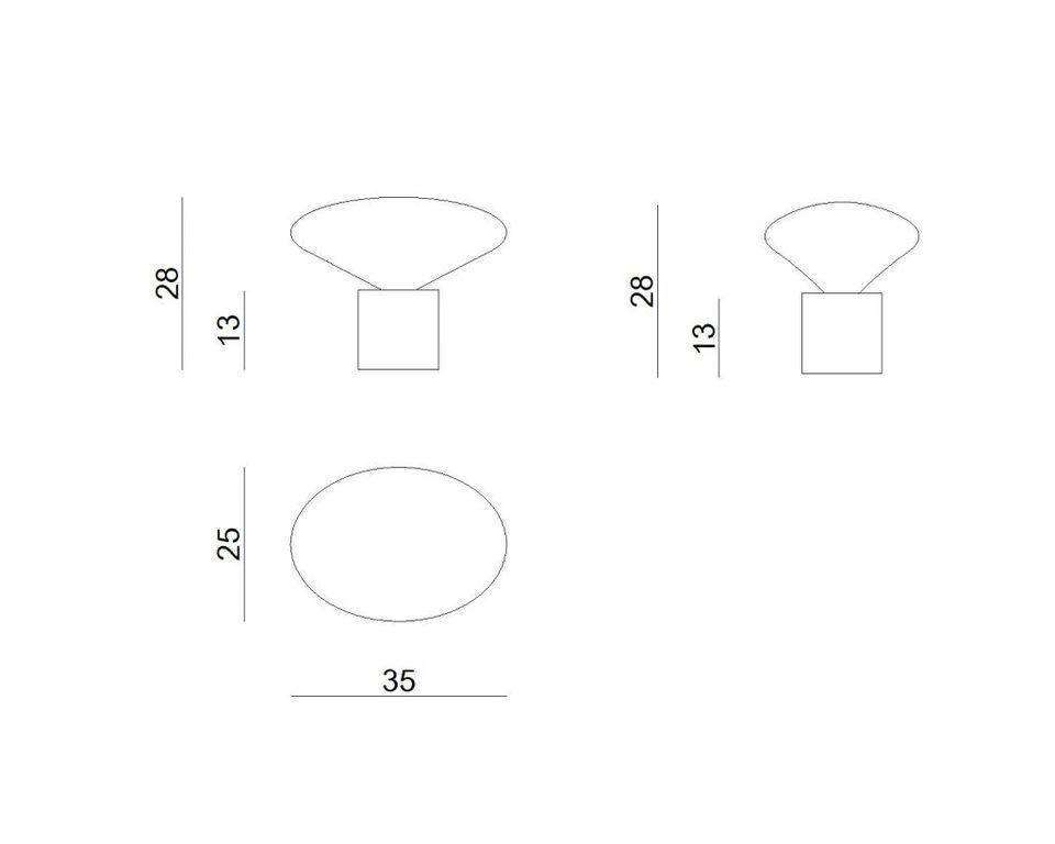 Lampa stołowa COCOON AQUAREL wielobarwna LGH0610 - Gie El