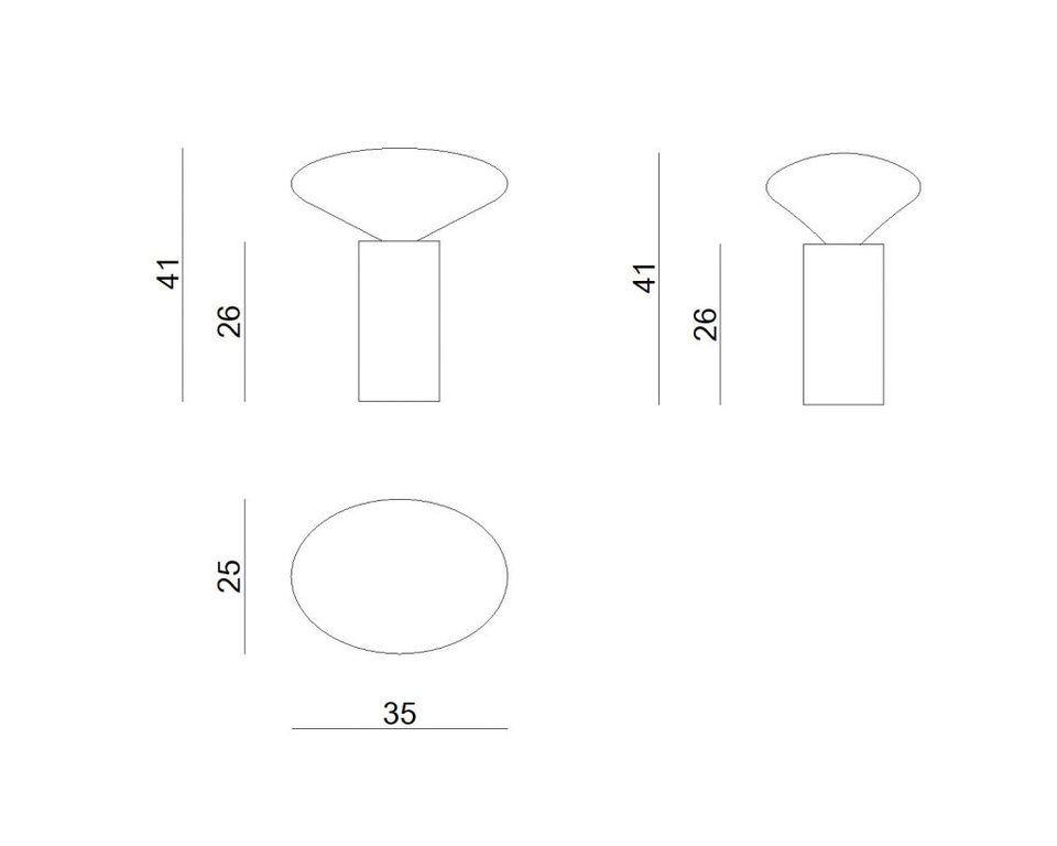 Lampa stołowa COCOON BIG AQUAREL wielobarwna LGH0611 - Gie El