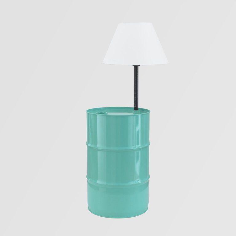 Lampa podłogowa BARREL turkusowa LGH0152 - Gie El