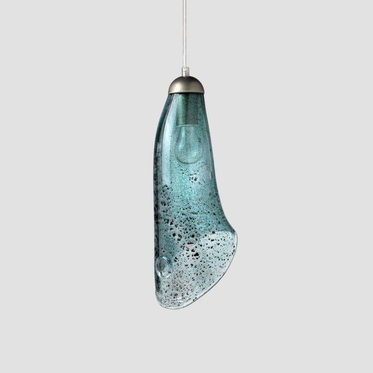 Lampa wisząca HORN turkusowa LGH0264 - Gie El