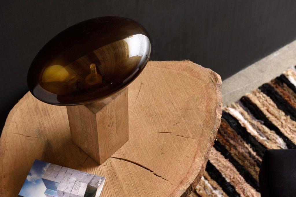Lampa stołowa COCOON BIG oliwkowa LGH0613 - Gie El