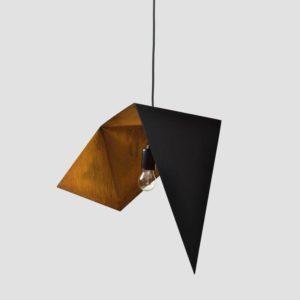 Lampa wisząca DUO BIRD I czarno rdzawa LGH0640 - Gie El
