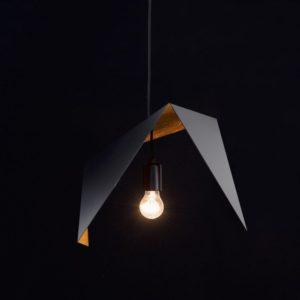 Lampa wisząca DUO BIRD II czarno rdzawa LGH0641 - Gie El