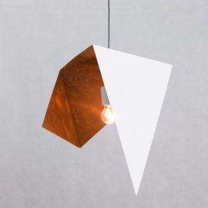 Lampa wisząca DUO BIRD I biało rdzawa LGH0642 - Gie El