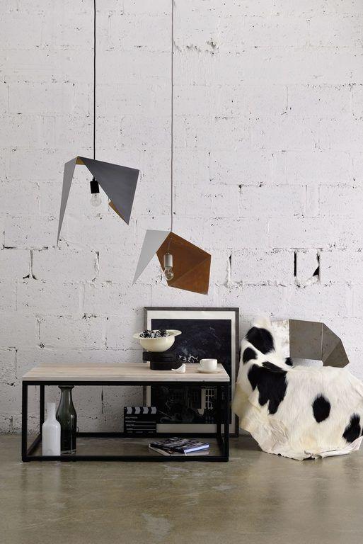 Lampa wisząca DUO BIRD II biało rdzawa LGH0643 - Gie El