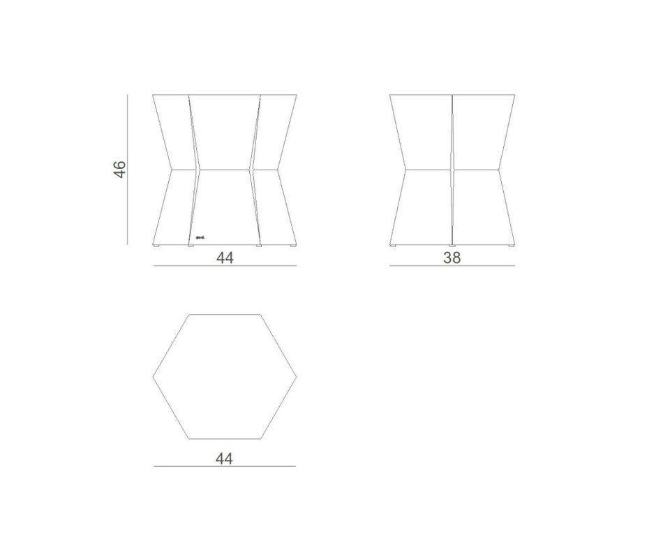 Stolik pomocniczy HEXA II śliwkowy FCT0332/ FCT0335 - Gie El
