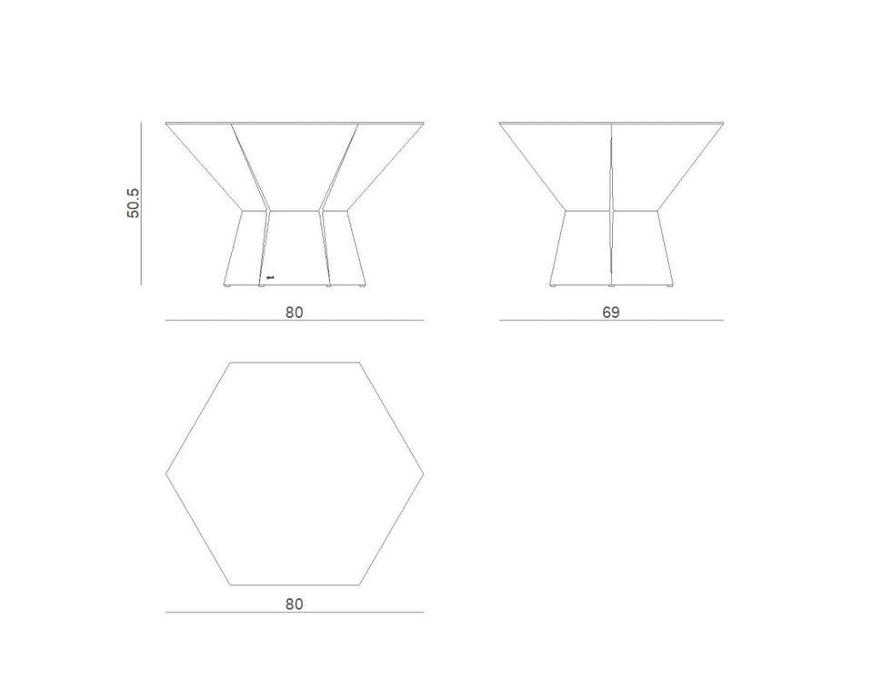 Stolik kawowy HEXA IV szampański FCT0350 / FCT0353 - Gie El