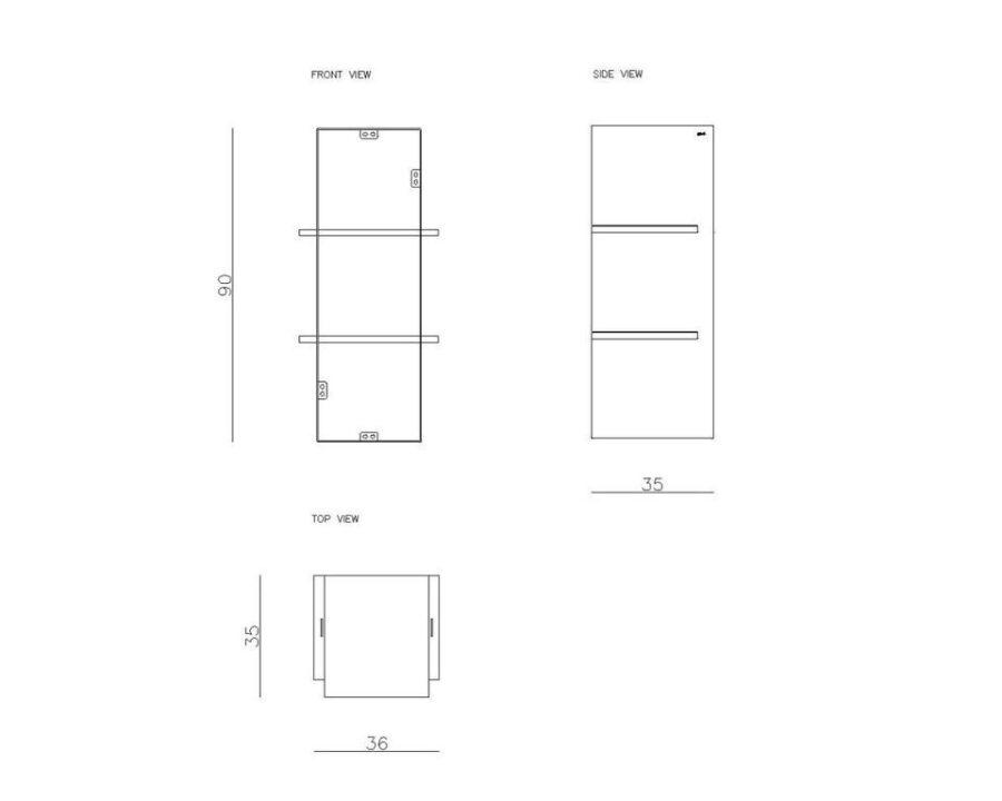 Półka wisząca LEVIOSA FUR0260 - Gie El