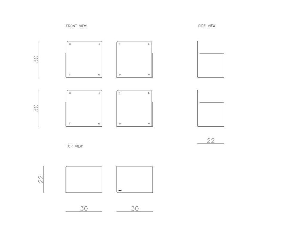 Zestaw czterech półek wiszących SQUIRE FUR0271 Gie El