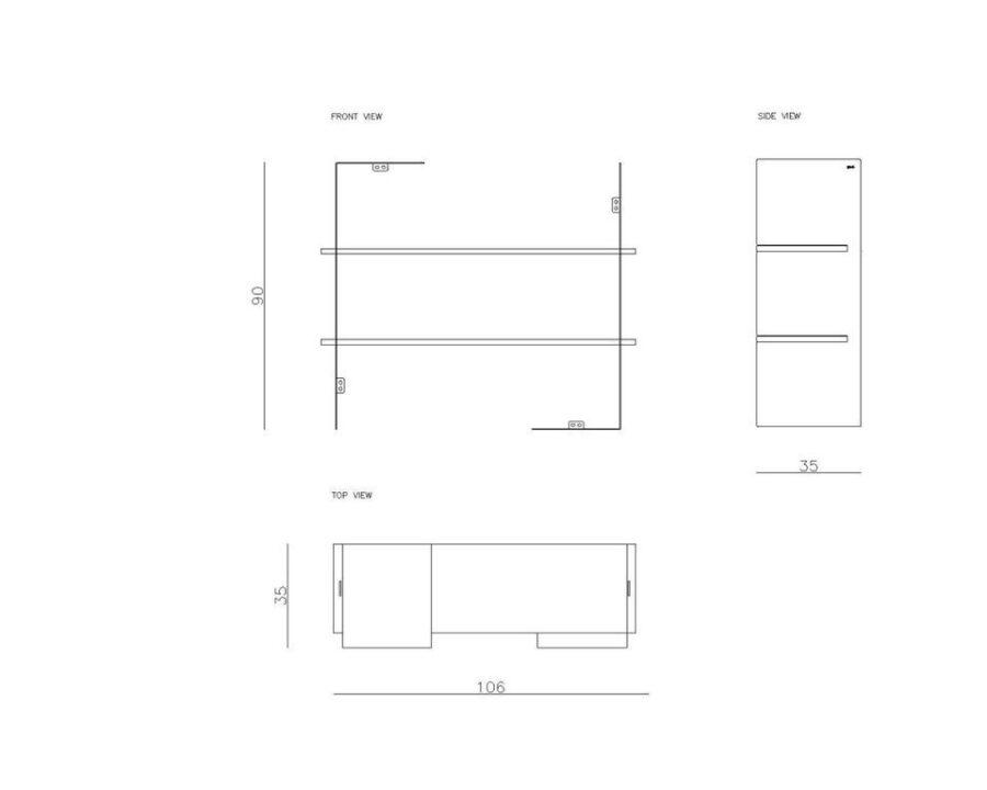 Zestaw półek wiszących LEVIOSA FUR0261 - Gie EL