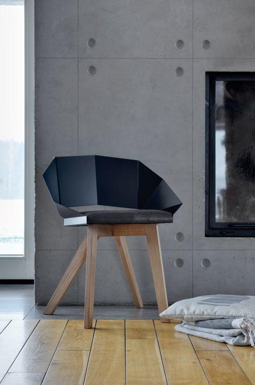 Krzesło KNIGHT na drewnianych nogach czarne FST0381 - Gie El