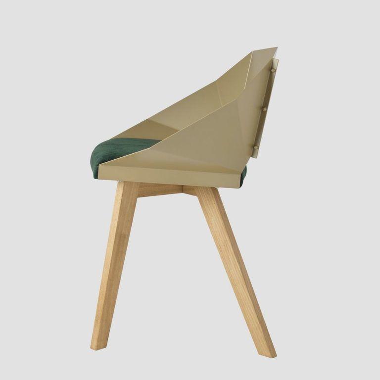 Krzesło KNIGHT na drewnianych nogach szampańsko zielone FST0383 - Gie El