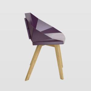 Krzesło KNIGHT na drewnianych nogach śliwkowe FST0385 - Gie El