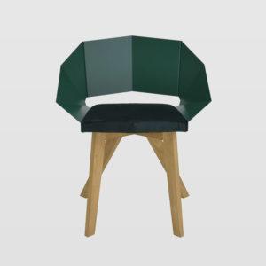 Krzesło KNIGHT na drewnianych nogach zielone FST0386 - Gie El