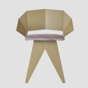 Stalowe krzesło KNIGHT szampańsko różowe FST0392 - Gie El