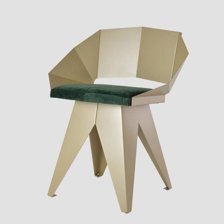 Stalowe krzesło KNIGHT szampańsko ciemnozielone FST0393 - Gie El