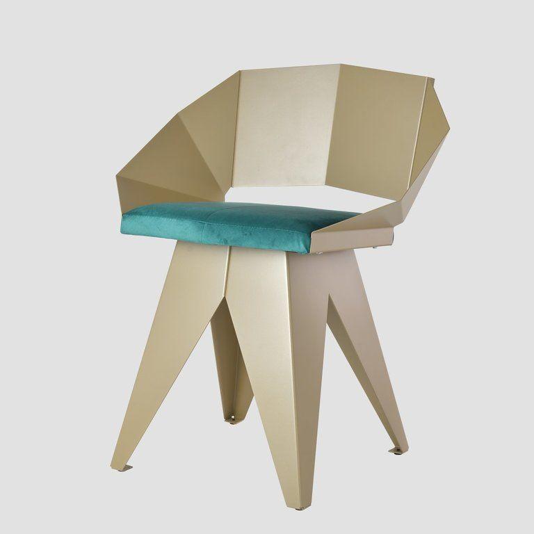 Stalowe krzesło KNIGHT szampańsko turkusowy FST0394 - Gie El