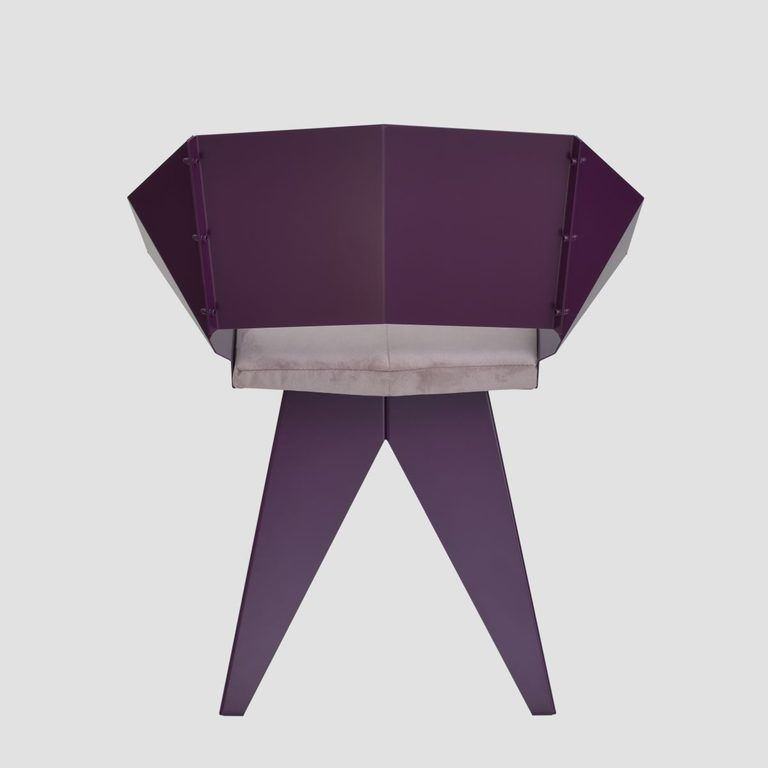 Stalowe krzesło KNIGHT śliwkowe FST0395 - Gie El