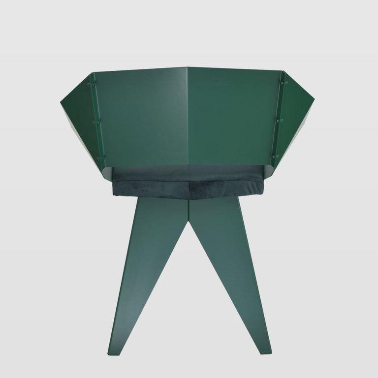 Stalowe krzesło KNIGHT zielone FST0397 - Gie El