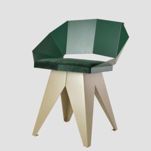 Stalowe krzesło KNIGHT zielono szampańskie FST0398 - Gie El