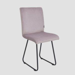 Krzesło na czarnych płozach JASMINE różowe FST0400 - Gie El