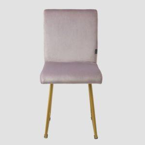 Krzesło na złotych płozach JASMINE różowe FST0403 - Gie El