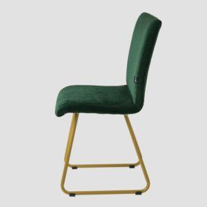 Krzesło na złotych płozach JASMINE ciemno zielone FST0404 - Gie El