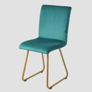 Krzesło na złotych płozach JASMINE turkusowe FST0405 - Gie E