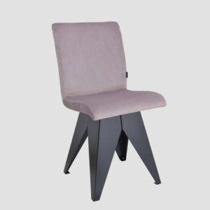 Krzesło na czarnej podstawie JAFAR różowe FST0410 - Gie El