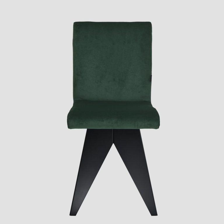 Krzesło na czarnej podstawie JAFAR ciemno zielone FST0411 - Gie El