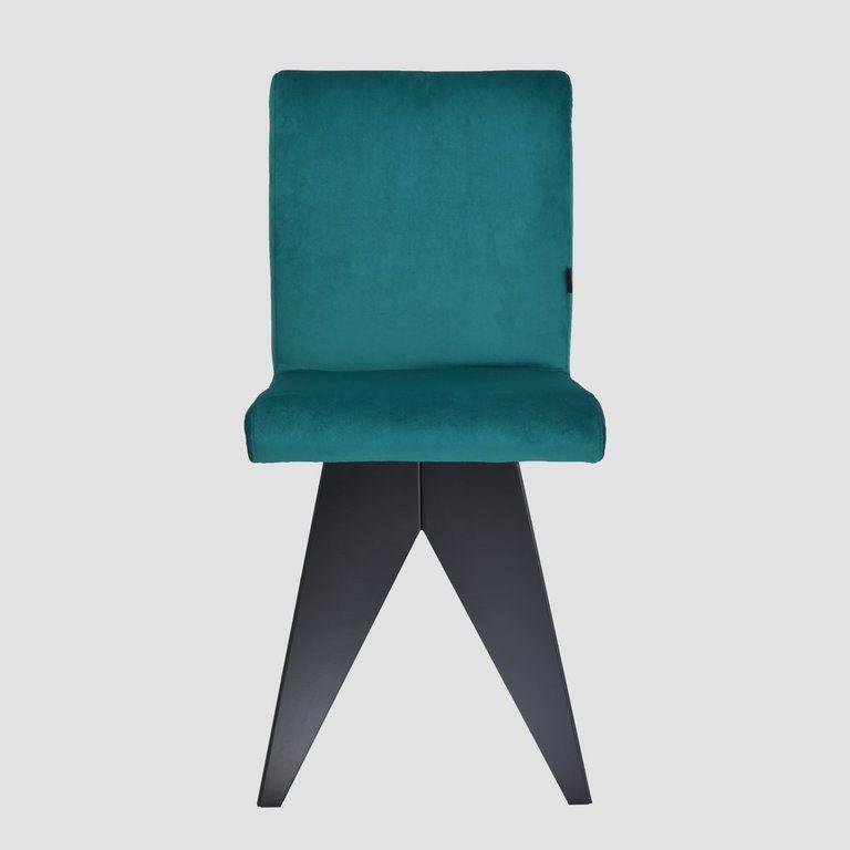 Krzesło na czarnej podstawie JAFAR turkusowe FST0412 - Gie El