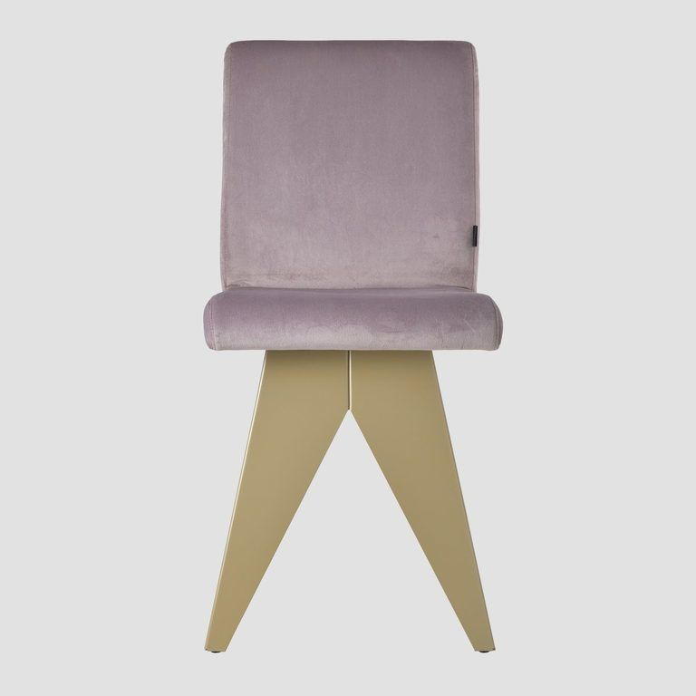 Krzesło na szampańskiej podstawie JAFAR różowe FST0413 - Gie El