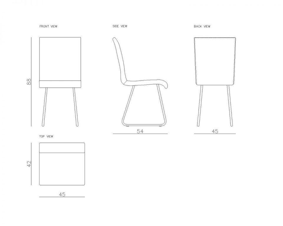 Krzesło na złotych płozach JASMINE turkusowe FST0405 - Gie El